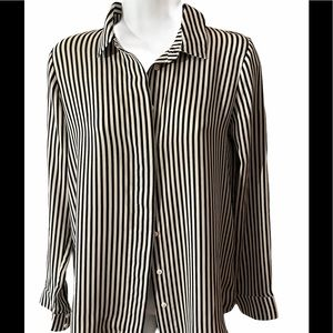 3/60 Deal ! Black and white striped top